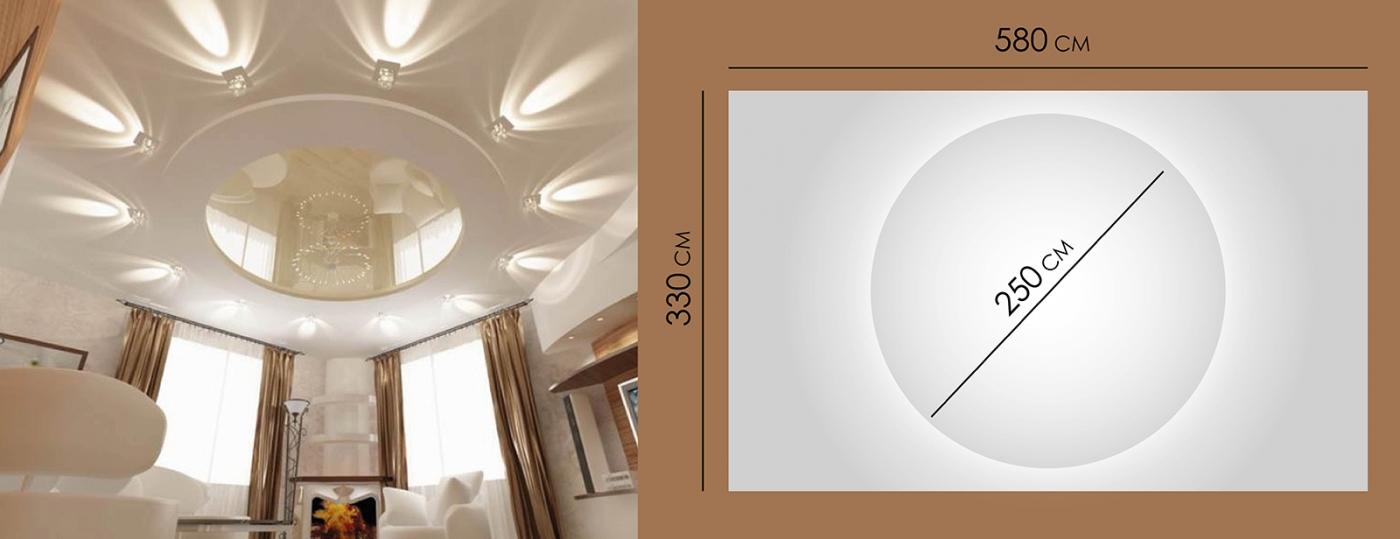 Натяжной двухуровневый потолок - 6